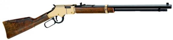 Henry H004M Golden Boy Standard Lever 22 Mag 20.5″ 12+1 American Walnut Stock Blue
