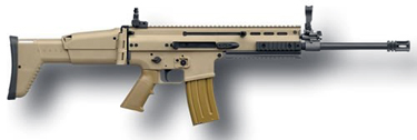 Back in Stock – ONE UNIT! FN 98501 SCAR 16S  SA 223 Rem/5.56 NATO 16.25″ 30+1 Adjustable Folding Stock FDE Tan