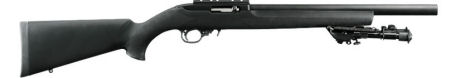 Back in Stock! Ruger 1230 10/22VLEH Target Tactical SA 22 LR 16.12″ 10+1 Hogue Over Molded Stock Black with Rail