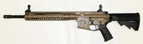 LWRC M6A2R5CK16SPR Complete M6A2 5.56 SPR Cerakote Desert Tan 16″ Helical Fluted SPR PISTON with Accessory Package