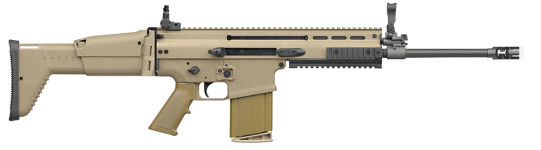 Back in Stock! FN 98541 SCAR 17S Semi-Auto 308 Win/7.62 NATO 16.25″ 20+1 Adjustable Folding Stock FDE Tan