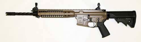 NEW MODEL! LWRC ICER5CK16 Complete M6 Individual Carbine Enhanced 5.56 Cerakote Tan (FDE) 16″ Helical Fluted with Accessory Package and LWRC Tactical Flashhider and Bayonet Lug PISTON