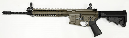 NEW MODEL! LWRC ICER5PBC16 Complete M6 Individual Carbine Enhanced 5.56 Cerakote Patriot Brown 16″ Helical Fluted with Accessory Package and LWRC Tactical Flashhider and Bayonet Lug PISTON
