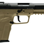 BACK IN STOCK! FNH 3868929350 Five-seveN MK II 5.7mmX28mm 4.75″ 20+1 Ambi Safety Rail – FDE frame