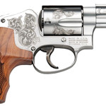 New! Smith & Wesson Mod 640 Machine Engraved 357 Mag 2.12″ 5rd Engraved Wood Grip Stainless with Presentation Case