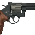 Back in Stock – One Unit! S&W Mod 329 Personal Defense 44Mag 4″ 6rd HiViz Sight Wood & Rubber Grips Scandium Frame Titanium Cylinder Black