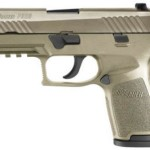 NEW! Sig Sauer P320 Compact Size FULL FDE 9mm 4.7″ 15+1 Interchangeable Poly Grips Night Sights Black