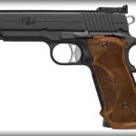 BACK IN STOCK! Sig Sauer 1911 Super Target – 45 ACP – Nitron – Wood Target Grips – Adjustable Target Rear / Fiber Optic Front Sights