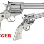 Back in Stock! Ruger 5241 Blackhawk Flattop 45 LC / 45 ACP Cylinders 5 1/4″ – Stainless Steel – Synthetic Ivory Grips