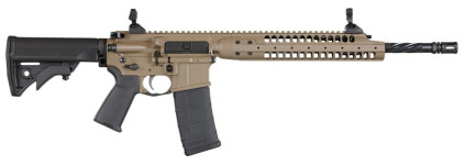 Back in Stock! The Best AR-15 Ever? LWRC Complete IC-A5 5.56 Cerakote FDE – 16.1″ Helical Fluted Barrel Low Profile Adjustable Gas Block – Ambi with Accessory Package and A2 Flashhider