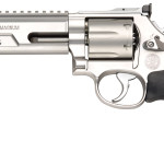 NEW! Smith & Wesson Model 686 170319 PERFORMANCE CENTER 357 Magnum  6″ Competitor Weighted Barrel 6rd Stainless Steel Chrome Hammer and Trigger Hogue Grip Adjustable Rear Sights