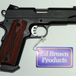 New! Ed Brown 38 Super Commander  Bobtail – LIMITED RUN – Stainless Steel with G4 Black Hard Coating- Snakeskin checkering – 38 Super Caliber – Night Sights!