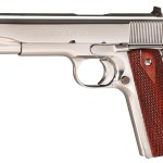 Back in Stock! COLT CUSTOM O2071ELC2 Government 38 .38 Super 5″ Bright Stainless Steel – Double Diamond Checkered Grips – 2 Mags