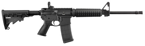 New for 2016 – Back in Stock! Ruger 8500 AR-556 Sporting Rifle Semiautomatic 5.56 NATO 16.1″ 30+1 6 Positions Stock Black