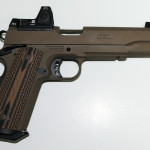 New! Ed Brown – SPECIAL FORCES 3 CUSTOM Stainless Steel G4 Flat Dark Earth Coating – RMR Adjustable Sights with Tall Sights – Lightrail Upgrade – Ambi Upgrade – Threaded Barrel 45 ACP – VZ Hyena Double Diamond Grips -2 Magazines