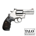 New TALO Model!  Smith & Wesson 150853 Model 686 3-5-7 Magnum® 3in 7rd – Unfluted Cylinder – Adjustable White Outline/Red Ramp Sights Stainless Steel – Satin Finish – Black/Silver 357 Custom Wood Grip