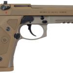 Back in Stock – New Model! Beretta J92M9A3M 92 M9A3 TYPE F FS SA/DA 9mm 5.2″ Threaded Barrel 17+1 Night Sights Rail Poly Grip Desert Sand/FDE