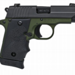 New – Limited Production TALO! Sig P238 ARMY 380 ACP SAO Nitron Black Slide / Green Frame 2.7 inches 7+1 – Night Sights