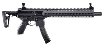 Mack in Stock! Sig Sauer MPXC9KMT Sig MPX Carbine SA 9mm 16″ 30+1 Reflex Sight 3-Pos Telescopic Stock Black