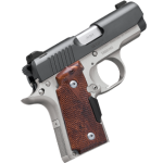 New – Just Released! Kimber MICRO9 – Crimson Carry 9mm 6+1 – Rosewood Crimson Carry LaserGrip