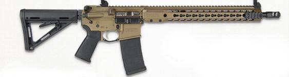 New Model! BARRETT M15984-S REC7 DI Direct Impingement 223/556 – 16 Inches – 30+1 Barrett Keymod Handguard – Barrett Sights – Burnt Bronze
