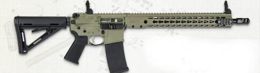 New Model! BARRETT M15397-S REC7 DI Direct Impingement 223/556 – 16 Inches – 30+1 Barrett Keymod Handguard – Barrett Sights – FDE