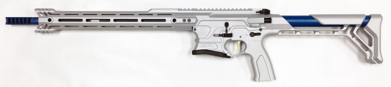 New! COBALT KINETICS B.A.M.F. TEAM REPLICA 223 Rem/556 NATO – Light Grey and Blue 16 inches – Case