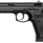 Back in Stock! CZ 91152 CZ-75 SP-01 DA/SA 9mm 4.7″ 18+1 with Rail and Night Sights – Rubber Grip Black Finish