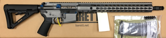 Back in Stock! BARRETT 15423 REC7DI Direct Impingement 300 Blackout – 16 Inches – 30+1 Barrett Keymod Handguard – Cerakote Tungsten Grey