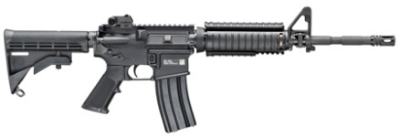 "NEW FROM THE MILITARY COLLECTION LINE! FN 3631801 FN-15 ""M4″ Military Collector Semi-Automatic 223 Remington/5.56 NATO 14.7″ 30+1 6-Position Stk Blk"