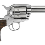 Back in Stock! Ruger 5159 VAQUERO FASTDRAW – TALO Exclusive – 357 Magnum/38 Special – Stainless Steel – 4-5/8 inches – Dooley Gang wood grips