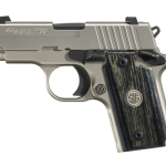 New! Sig Sauer 238-380-HD-NI HEAVY DUTY NICKEL – All Stainless Steel with Nickel PVD coating – 2.7in 6+1 Night Sights – Blackwood Medallion Grips