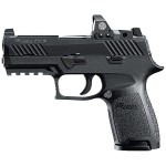 New Model – Back in Stock! Sig Sauer 320C-9-BSS-RX – 320 Compact 9mm Tall Night Sights and Sig Romeo 1 Mini Reflex Sight