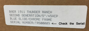 Les Baer Thunder Ranch Gen 2 BOX