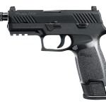 New for 2017! Sig Sauer 320 Carry TACOPS 9mm 4.6in Threaded Barrel 21+1 Black Polymer Grip Nitron Stainless Steel – TruGlo and Night Sight – 4x21rd Magazines