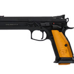 New – Back in Stock! CZ 91261 CZ75 Tactical Sport ORANGE 9mm 5.4″ 20+1 Aluminum Grips Black Finish – 3 Magazines