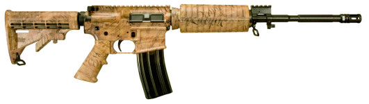 "Windham Weaponry Limited Edition R16M4FTTC9 SRC 223/5.56 Semi-Automatic  16″ 30+1 Telescoping Stock ""WE THE PEOPLE"" cammo coating."