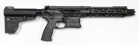 New! Cobalt Kinetics – Stealth Pistol 300 Blackout 9in PISTOL – Cobalt Grey – Shockwave Blade Arm Brace – Case!