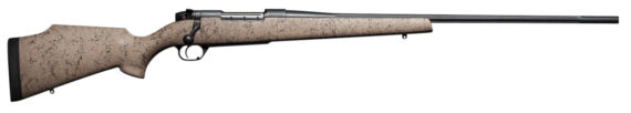 New! Weatherby MARK V® ULTRA LIGHTWEIGHT 6.5 Creedmoor 22″ Tan Spiderweb Stock and Black Barrel
