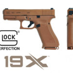 Back in Stock! GLOCK G19X Coyote FDE Factory Night Sights, Full-Size Frame, 9mm, 17+1 and 2 x 19+1 Magazines, 4.02″, Marksman Barrel, nPVD Slide, Polymer Frame