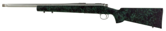 New! Remington 85507 700 5-R Bolt 223 Rem/5.56 NATO 20″ Stainless Steel Threaded 5+1 Synthetic HS Precision Black w/Green Web Stock