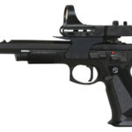 New! CZ 91174 75 TS Czechmate, Semi-Automatic SAO, Full Size, 9MM, 5.23″ Cold Hammer Forged Barrel, Steel Frame, 4 Port Compensator, Black Finish, Thin Aluminum Grips, Ambi Safety, Fixed Sights, C-More Dot, 3 20 Round Magazines and 1 26 Round Magazine