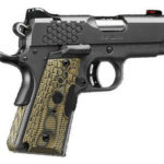 Kimber KHX Ultra 45 ACP 3in 7+1, Hogue G10 Lasergrip, Fiber Optic Sights – All Stainless Steel with black KimPro finish