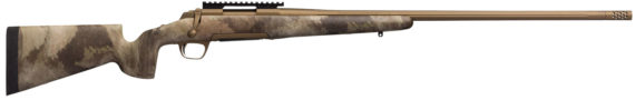 New! Browning X-Bolt HELL'S CANYON Long Range – 26 NOSLER – 26″ 3+1 Cerakote Burnt Bronze McMillan Game Scout Stock, Picatinny Rail, Adjustable Feather Trigger