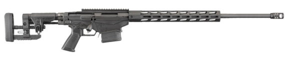 New Gen 3! Ruger Precision Rifle 18029  – 2018 Gen 3 Model – 6.5 Creedmoor – 24 inches 1:8 – MSR Folding Stock – Adjustable Trigger – Threaded – Hybrid Muzzlebrake – 20MOA Rail – M-LOK Handguard