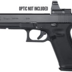 New! GLOCK G34 Gen 5 Safe Action MOS System, 9MM, 5.31″ Marksman Barrel, Polymer Frame, Matte Finish, Adjustable Sights, 17Rd, 3 Orange Follower Mags, Glock OEM Rail, Ambi Slide Stop Lever, Flared Mag Well, nDLC Finished Slide and Barrel, No Finger Grooves