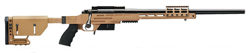 New Model! Kimber 8400 – 2008 Advanced Tactical SOC II FDE 6.5 CREEDMOOR 22in 1 in 10 Threaded FDE Folding Tactical Stock with Scope/Night Vision Rails