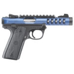 New! Ruger 43924 Mark IV  Lightweight 22 Long Rifle 4.4″ 10+1 Anodized Blue Slide – Black Polymer Grip – 2 Mags