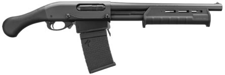 New! Remington Firearms 81348 870 Tac-14 Pump 12 Gauge 14″  DM 6+1 Detachable Magazine Synthetic Raptor pistol grip and Magpul M-LOK Forend