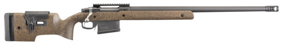 New! RUGER® 47183 HAWKEYE Long Range target 300 Win Mag 24″ 5R Rail 5+1 Magazine Speckled Laminated Stock Muzzlebrake